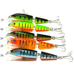 spogliarelli spogliarono Sconti 2 Sezioni da pesca Minnow Lure Esca artificiale con ganci alti 10.5CM 9.6g Attrezzatura da pesca con esche rigide in plastica