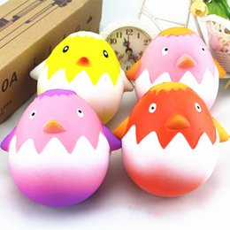 Wholesale Egg Squishy - Kawaii Easter Egg Squishy Hen Chick Slow Rising Jumbo Squeeze Simulation Bread Phone Charms Kids Toys