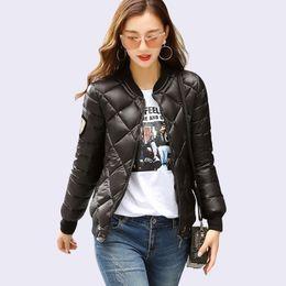 Wholesale korea fashion jacket winter - 2018 New Iyaolee Winter Jacket Women Short Coats Fashion Female Coats Padded Korea Pop Street Jacket Coat