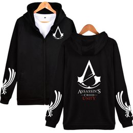assassin s creed clothing Coupons - Classic RPG Game Hooded Hoodies Men Zipper Assassins Creed Aveline Fashion Black Sweatshirts Men Zipper Hoodies Casual Clothes