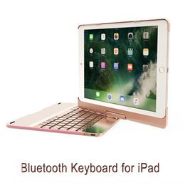 caixa do teclado ipad novo Desconto Alumínio teclado bluetooth com tampa giratória case colorido luz de respiração para ipad air / ipad air2 / ipad pro9.7 / 217 novo ipad