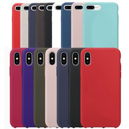 Wholesale Cloth Cases - Liquid Silicone Gel Rubber Shockproof Solid with Soft Microfiber Cloth Lining Cushion Cover Case For iPhone X 8 Plus 7 6 6S With Retail Box