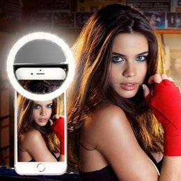 Wholesale Camera Phone Photography - Selfie Light LED Ring Fill Light Supplementary Lighting Camera Photography For Samsung Galaxy S8 iPhone 7 6 6s LG Sony and all Smart Phones