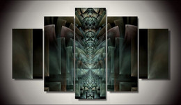 Wholesale Religious Pictures - HD Printed Religious Abstract Art 3D Poster 5 Pieces Set Painting Poster Home Wall Art Picture Paint On Canvas Prints Painting