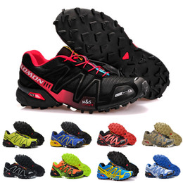 red athletic Coupons - 2018 Salomon Men Shoes zapatos hombre Speed Cross 3CS III Sport Sneakers Men Black outdoor athletic Speedcross Solomon running Shoes