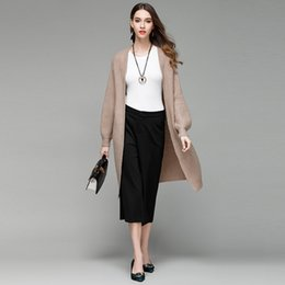 Wholesale Puff Sleeve Sweater White - 2017 Autumn New style Casual Women Cardigan Weater Coat Female Cardigan Sweater Long style Knitted V-Neck Cardigans MY017
