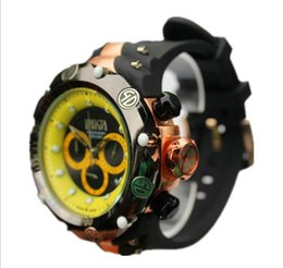 Wholesale round steel stock - IN STOCK INVICTA 5 Colors Stainless Steel Chronograph Watch New Quartz Men Luxury Watch