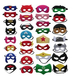 Wholesale superhero for woman - Superhero Masks Half Face Mask Superman Iron Man Batman Wonder Woman Spiderman Hulk Capitain America Thor Flash Cosplay Party Mask Drop Ship