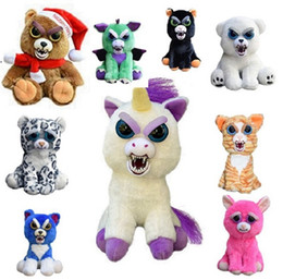 "Wholesale Pet Movies - Feisty Pets Plush 22cm William Mark One Second Change Face Animal Karl the Snarl- Adorable 8.5"" Glenda Glitterpoop unicorn Plush Toys Cute"