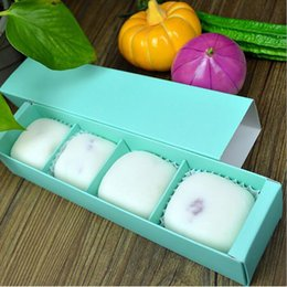 Wholesale Mooncake Package - Candy Color 4 Grid Macaron Box Bakery Box for Biscuits Cookie Mooncake Packaging Paper Gift Boxes #DFX57