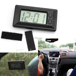 Wholesale Drop Shipping Bikes - Wholesale-New Universal Black Digital Clock For Car-Truck-Bike-Scooter Interior Dash Drop shipping