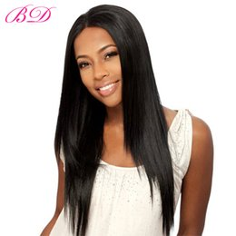 Wholesale Elastic Color Hair - BD Glueless Lace Front Wigs Malaysian Human Hair Wigs Body Straight Malaysian Virgin Hair Natural Hairline Wigs For Black Women 8-24 Inch
