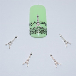 Canada 10psc nouvelle tour Eiffel 3D Nail Art Décorations, Alliage Nail Charms, ongles strass fournitures # 049 supplier eiffel towers decorations Offre