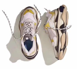 Wholesale Vintage Bl - NEW Retro BL Triple S Sneakers for men women Running shoes Vintage Kanye West Old Grandpa Trainer Sneaker fashion shoe outdoor boots