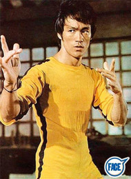 Argentina 2018 Nuevo Jeet Kune Do Game of Death Traje mono Bruce Lee Clásico Kung Fu amarillo uniformes Cosplay JKD cheap yellow costumes Suministro