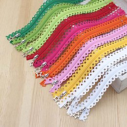Wholesale Wholesale Fabric Sewing Material - New 10PCS 25CM Beautiful Stars Lace Plastic Nylon Zippers For DIY Handmade Accessory Tailor Sewing Craft Bag Garment Material