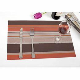 Wholesale Hot Pad Placemats - Home 4Pcs Christmas Placemats PVC Placemat Bar Mat 30*45cm Plate Mat Table Set Kitchen Hot Pads Insulation Orange