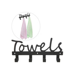 Wholesale Hanger Pegs - Wholesale Metal Bathroom Towel Hook Wall Mount Washcloth Hanger Shower 4 Pegs Chrome (Black)