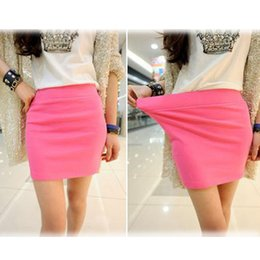 Wholesale Ladies Black Pleated Mini Skirt - Fashion Women Ladies Sexy Summer Package Hip Pencil Skirt Seamless Elastic Pleated High Waist Slim Mini Skirts For Office Party