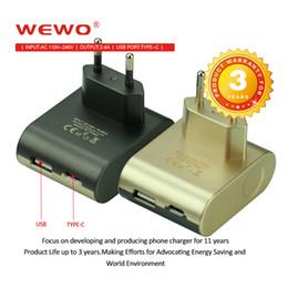Apfel wand ladegerät ausgang online-Wewo 2.4A Ausgang USB-Typ-C-Ladegerät Kabel-Ladegerät Drahtloser Typ C-Port Schnellladung Tragbarer Reiseadapter für iPhone Samsung S9