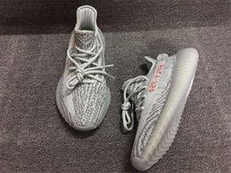 Wholesale Summer Neon - Newest Boost 350 V2 Blue Tint B37571 Kanye West Sply 350 Boost Shoes for mens Neon Blue Zebra Mens Womens Running Shoes