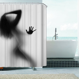 sexy women shower Coupons - Fashion Creative Sexy Girl And Women Shadow Silhouette Bath Shower Curtain Waterproof Bathroom Curtain Home Decoration