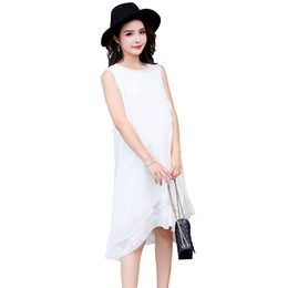 7562eccb7fae Sleeveless Elegant Maternity Long Dress Summer Fashion Tank Chiffon  Patchwork Clothes for Pregnant Women Pregnancy