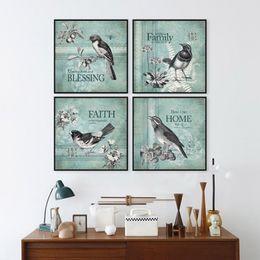 Dipinti di villaggio online-American Village Paintings Animal Print Poster Modern Wall Picture Minimalista Canvas Painting Soggiorni Camera da letto Home Decor