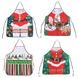 Wholesale Funny Christmas Decor - Funny Printe Personality Aprons Christmas Santa Anime Cartoon Lady Cooking Apron Creative Character Series Family Decor Festival
