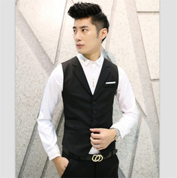 Wholesale White Duck Costume - Korean Notched Classic Vests Men 2017 Social Male Wedding Groom Waistcoat Leisure Gilet Costume Blazer Suit Slim Fit Clothing UK
