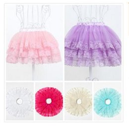 Wholesale Dance Skirts For Kids - Fashion Girls Tutu Skirts Baby Ballerina Skirt Children Clothing Tulle Skirt kids Dance Ballet Dress for Girl Gifts Casual DHL Free Shipping