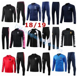 ef6adb6375a973 Survêtement de football pour ligue des champions PSG adulte 2018 2019 Survêtements  de sport PSG 18 19 MBAPPE LUCAS HOME Kit veste de football abordable ...