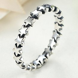 Wholesale Wedding Trails - Pandora Rings Star Trail Stackable Finger Ring For Women Wedding 100% 925 Sterling Silver Jewelry 2018 New Collection