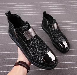 Wholesale Wedding Dresses Colour - 2018 mens shoes Men's Casual barber Casual shoes stylist colours rivet mens designer shoes sequins men luxury loafers CC68