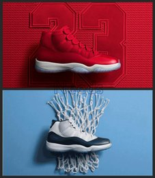 Wholesale Aa Boxes - Retro 11 Win Like 82 Midnight Navy Retro 11s Win Like 96 Gym Red Men Women Basketball Shoes AA Quality Sneakers With Box