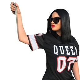 Streetwear Casual T-shirt En jersey Robe Femmes Vêtements 2018 XMAS Femmes Col En V À Manches Courtes Lâche Robe Lettre Nombre Imprimer Mini Solid Robe ? partir de fabricateur