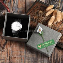 Canada Bijoux de fiançailles Cadeau Kraft Papier Bracelet Bracelet Chaîne Montre Cas de Mariage Boîte # T50P # Drop ship cheap engagement bangles Offre