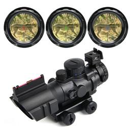 Argentina Alcance de la caza 4X32 Tactical Optical Riflescope RedGreenBlue con Tri-Iluminado Reticle Fiber Rifle Scope Sniper Airsoft Gun cheap rifle scope sniper reticle Suministro