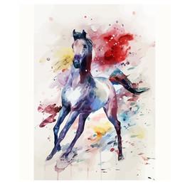 pferd malerei schwarz weiß Rabatt Voll Platz Diamant Malerei Kreuzstich schwarz weiß pferd Diamant Stickerei 5D Diy Diamant Mosaik bilder Hand