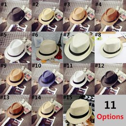 2f003ff3541 Cheap Vogue Men Women Hat Kids Children Straw Hats Cap Soft Fedora Panama  Belt Hats Outdoor Stingy Brim Caps Spring Summer Beach D0251