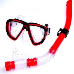 tauchmaskengläser Rabatt Schwimmen Gear Dive Scuba Tauchbrille Schutzmaske Brille Erwachsene Anti-Fog Tauchmaske Ausrüstung Semi Dry Schnorchel Set