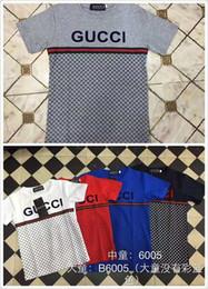 Nueva ropa de gama alta online-Ropa para niños boy manga corta cuello redondo camiseta de gama alta verano nuevo cuello redondo niños algodón impresión de camiseta camiseta B6005 #