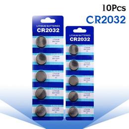 Células cr on-line-Hot 10 pcs CR2032 CR 2032 Li-ion de Lítio 3 V Bateria Da Moeda Da Célula Botão BR2032 DL2032 SB-T15 EA2032C ECR2032 L2032 Grande promoção