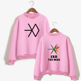 Wholesale Exo K - LUCKYFRIDAYF K-POP EXO New Album THE WAR Hoodie Sweatshirt Men Korea Popular Idol Hoodie Sweatshirt Women Fashion Casual Clothes