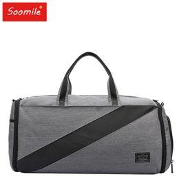 a691e76a3ac7 new men duffle bag 2 in 1 Suit case travel bag big capacity Foldable  luggage nylon travel tote Garment Handbags