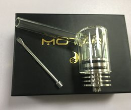 Wholesale Wholesale Caps China - 2018 new innovation e cigarette vape wax atomizer with Coil-less Glow core quartz chamber and glass pipe cover cap china trending