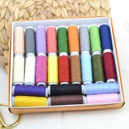 2019 caja de tb Caja de hilo de coser de poliéster de 60 colores Conjunto Kit de costura de bricolaje para agujas de máquina de mano TB Venta caja de tb baratos