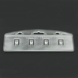 cartes glissières Promotion 10 Pcs / Lot Demi Porte-Badge ID Givré Serveur De Serveur En Plastique Rigide facile à POS Access Swipe Card