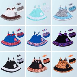 Set di swing online-Baby Girl Clothing Set Summer Style Baby Swing Top infantile Ruffle Outfit PP Pants Fascia per neonato
