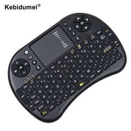 Wholesale Wireless Pc Gaming Pad - kebidumei Wireless 2.4G RF mini i8 Keyboard Touch Pad mouse gaming Keyboard for HTPC Tablet Laptop PC for Ancroid